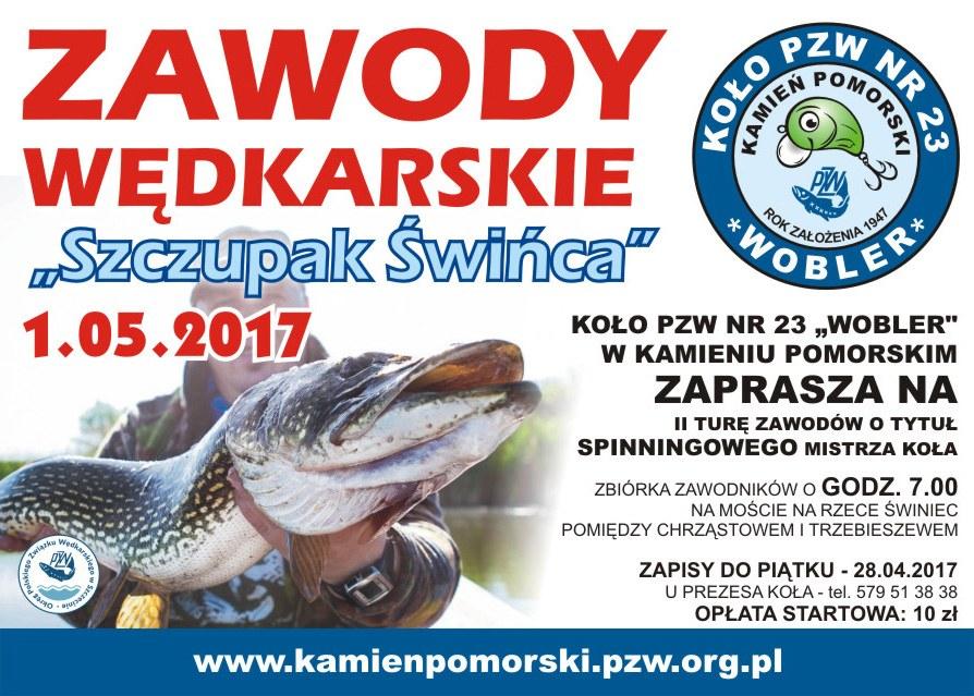 """""""Szczupak Świńca"""" – Zawody wędkarskie Koła PZW 23 WOBLER w Kamieniu Pomorskim"""
