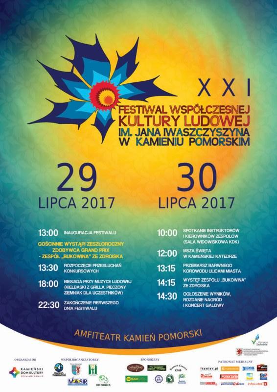 Zapraszamy na XXI Festiwal Współczesnej Kultury Ludowej im. Jana Iwaszczyszyna w Kamieniu Pomorskim
