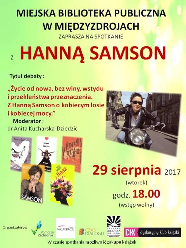 """""""Życie od nowa, bez winy, wstydu i przekleństwa przeznaczenia"""" – spotkanie autorskie z Hanną Samson"""