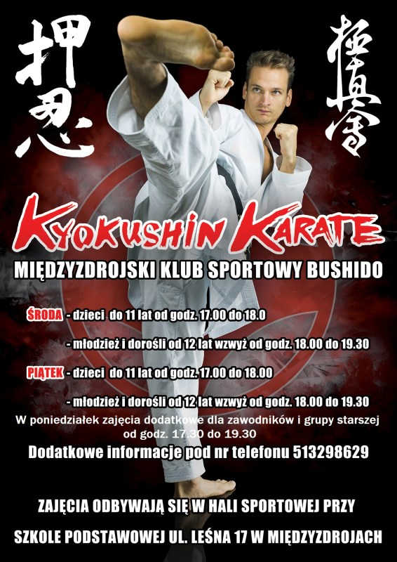 Zaproszenie na treningi karate