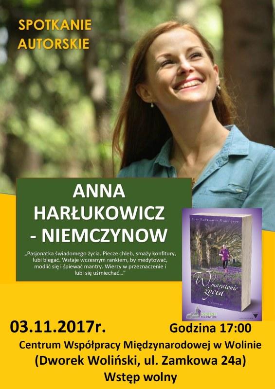 Spotkanie Autorskie z Anną Harłukowicz – Niemczynow