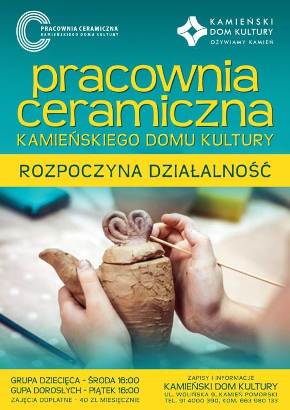 Zaproszenie na zajęcia ceramiczne