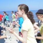 100 kilometrów plażą Bałtyku