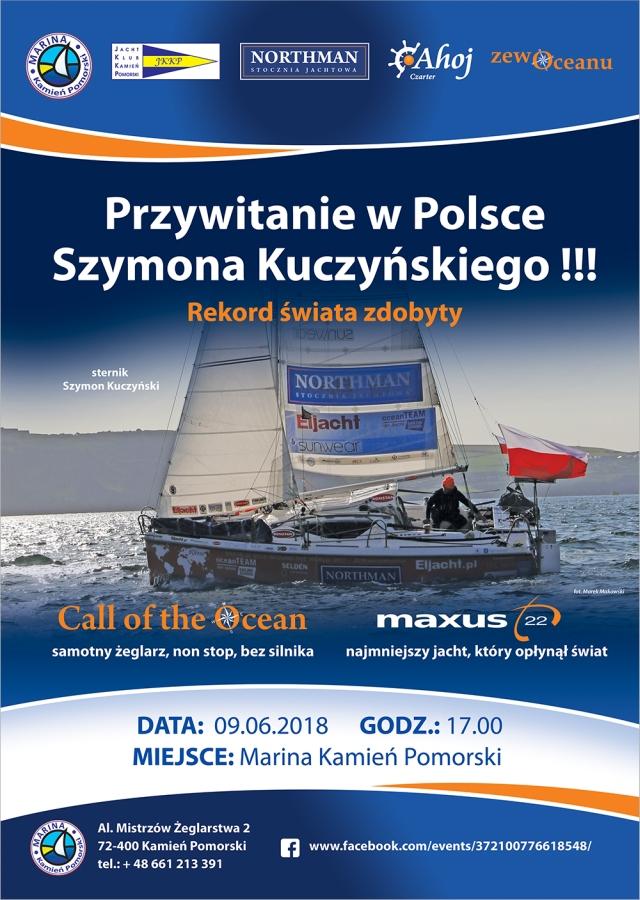 Przywitanie w Polsce Szymona Kuczyńskiego – zdobywcy rekordu świata