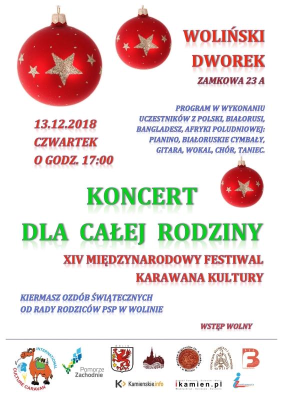 KONCERT DLA CAŁEJ RODZINY – WOLIN 13.12.2018