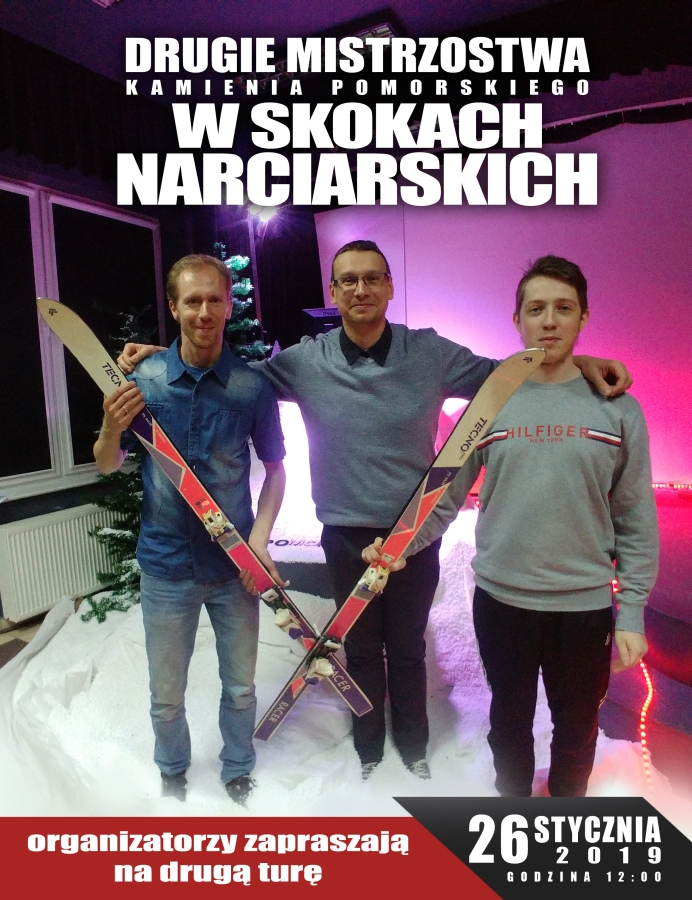 """Druga tura """"II Mistrzostw Kamienia Pomorskiego w Skokach Narciarskich"""""""