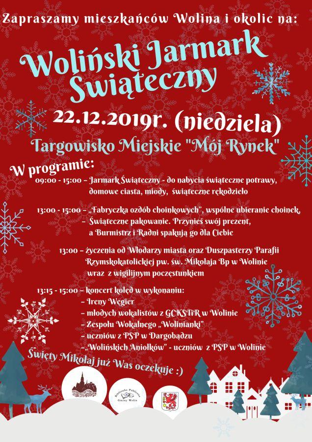 Woliński Jarmark Świąteczny już 22 grudnia