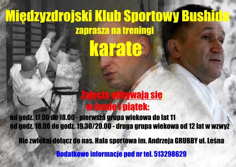Zapraszamy na treningi karate!